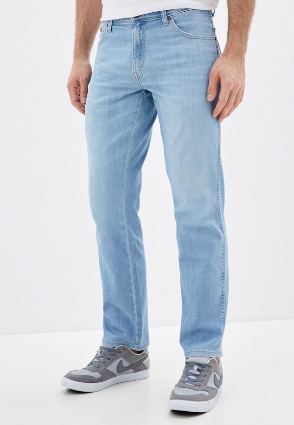 мужские зауженные джинсы wrangler, голубые