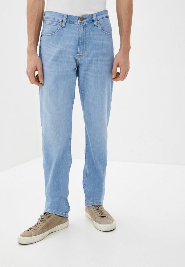 мужские прямые джинсы wrangler, голубые