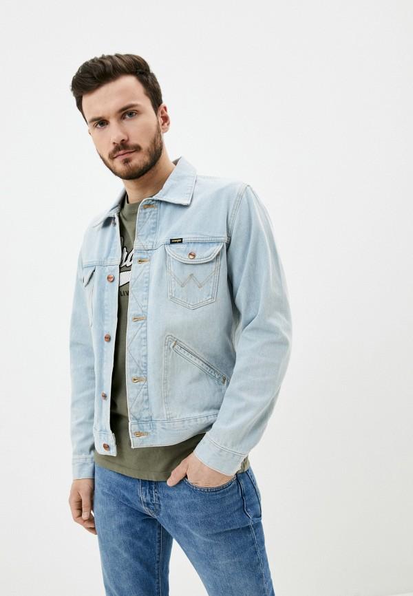 мужская джинсовые куртка wrangler, голубая