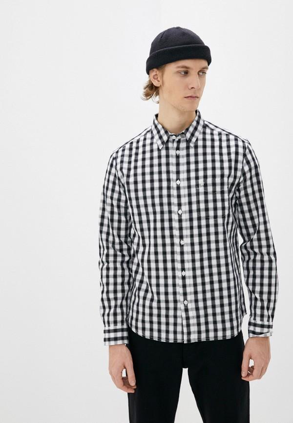 мужская рубашка с длинным рукавом wrangler, серая