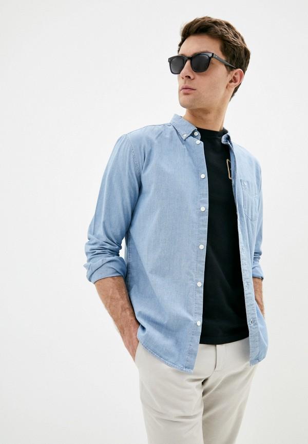 мужская джинсовые рубашка wrangler, голубая