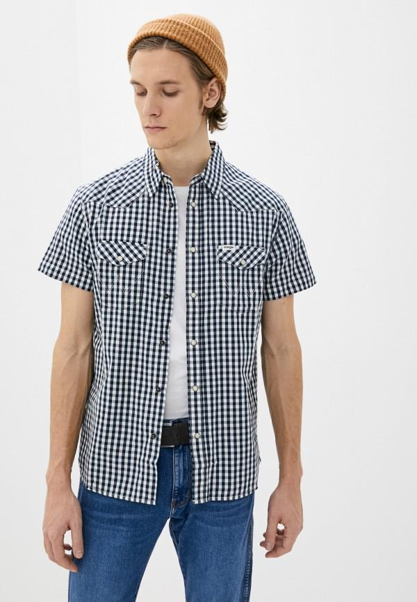 мужская рубашка с коротким рукавом wrangler, серая