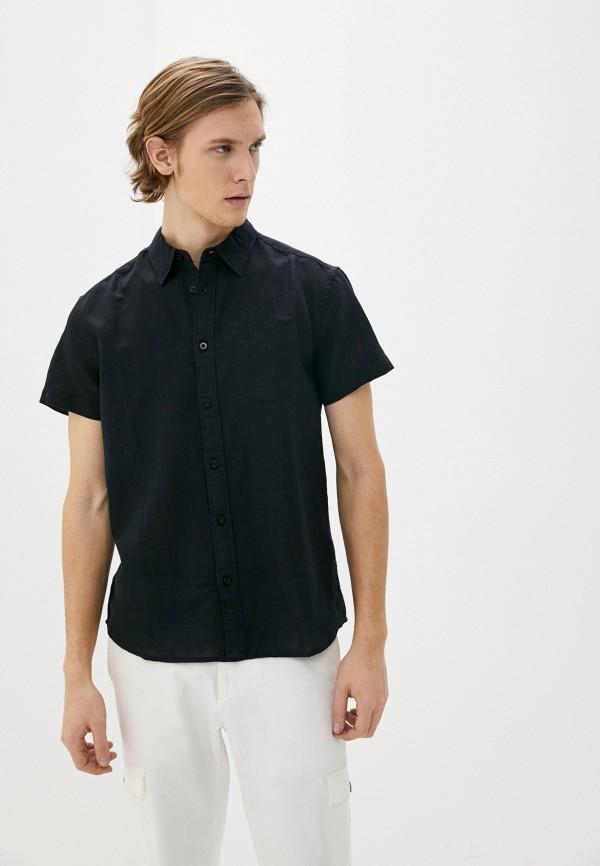 мужская рубашка с коротким рукавом wrangler, черная