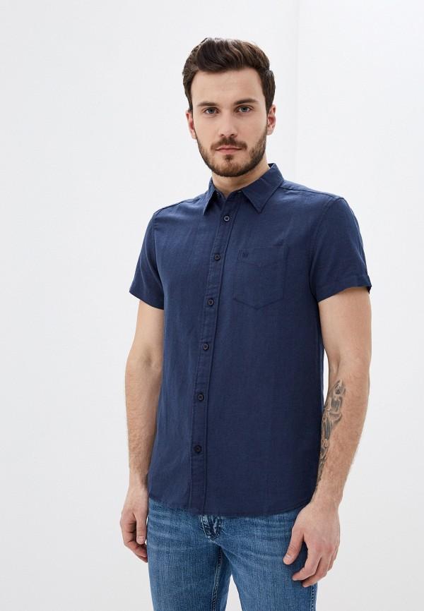 мужская рубашка с коротким рукавом wrangler, синяя