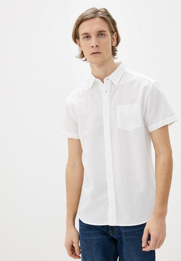 мужская рубашка с коротким рукавом wrangler, белая