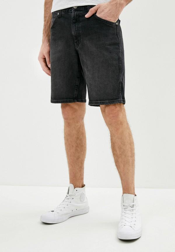 мужские джинсовые шорты wrangler, черные