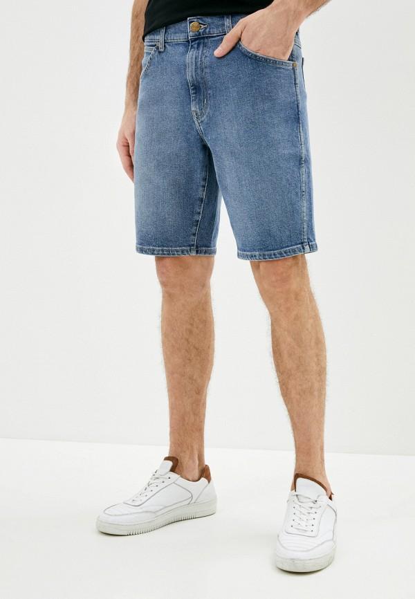 мужские джинсовые шорты wrangler, голубые