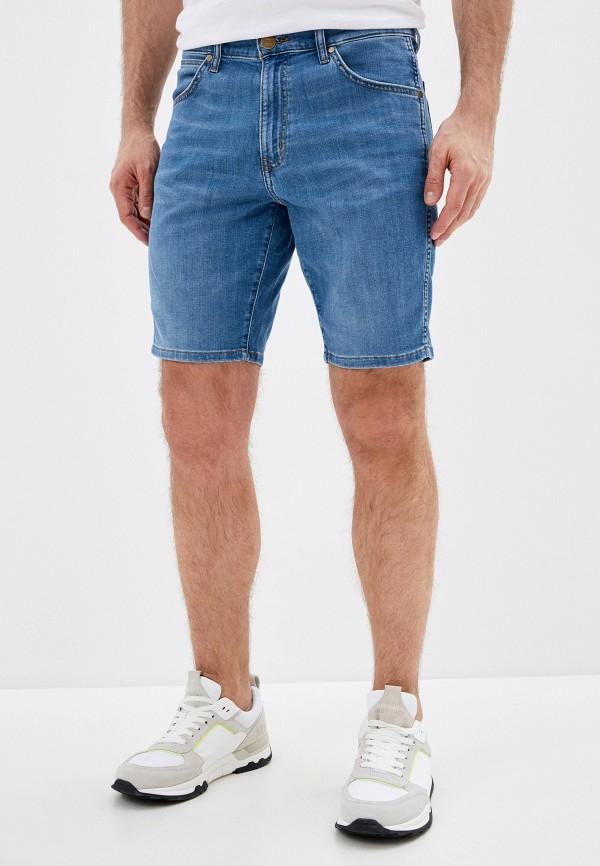 мужские джинсовые шорты wrangler, синие