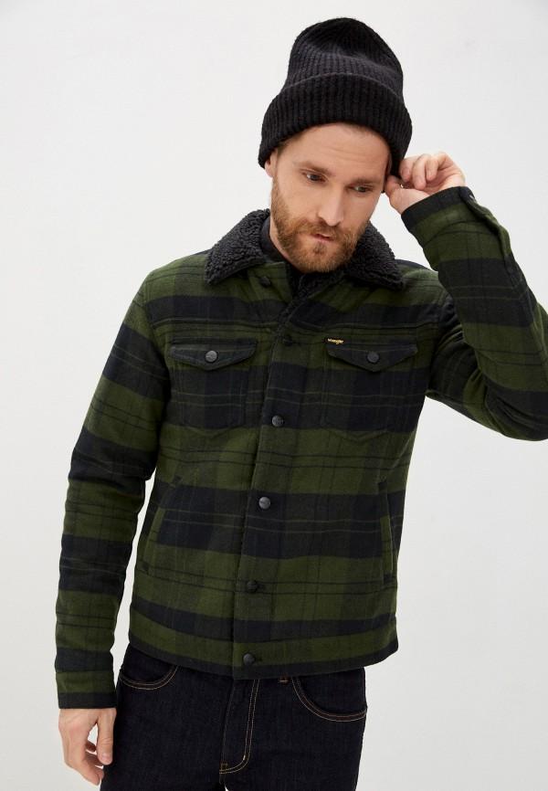 мужская куртка wrangler, зеленая