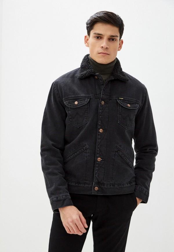 мужская джинсовые куртка wrangler, черная