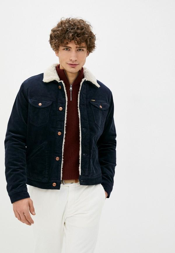 мужская куртка wrangler, синяя