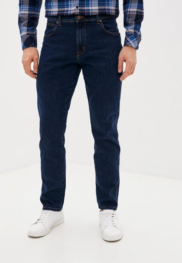 мужские зауженные джинсы wrangler, синие