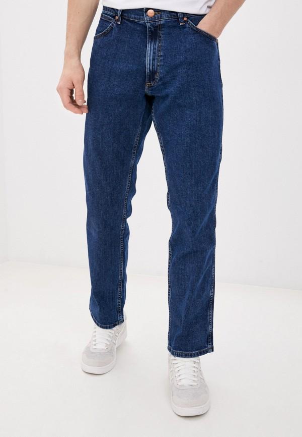 мужские прямые джинсы wrangler, синие