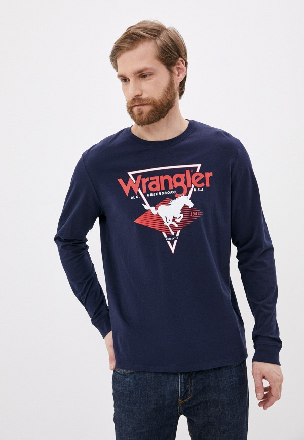мужской лонгслив wrangler, синий