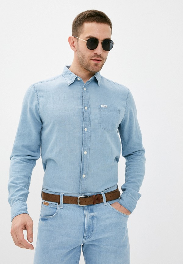 Рубашка Wrangler Wrangler W5A1LOX4E голубой фото