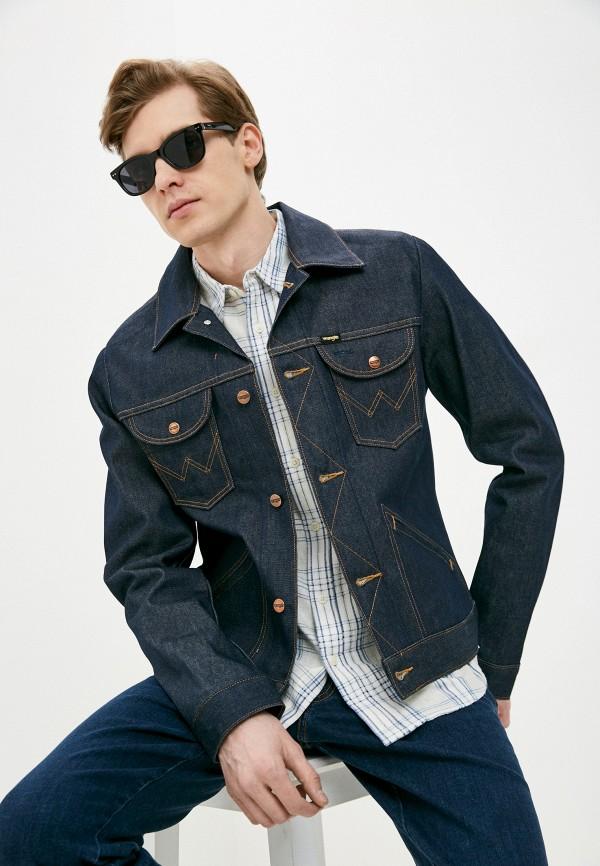 Куртка джинсовая Wrangler Wrangler W4MJUG301 синий фото