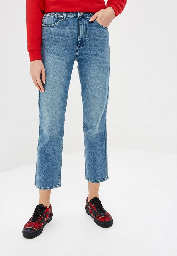 женские прямые джинсы wrangler, голубые