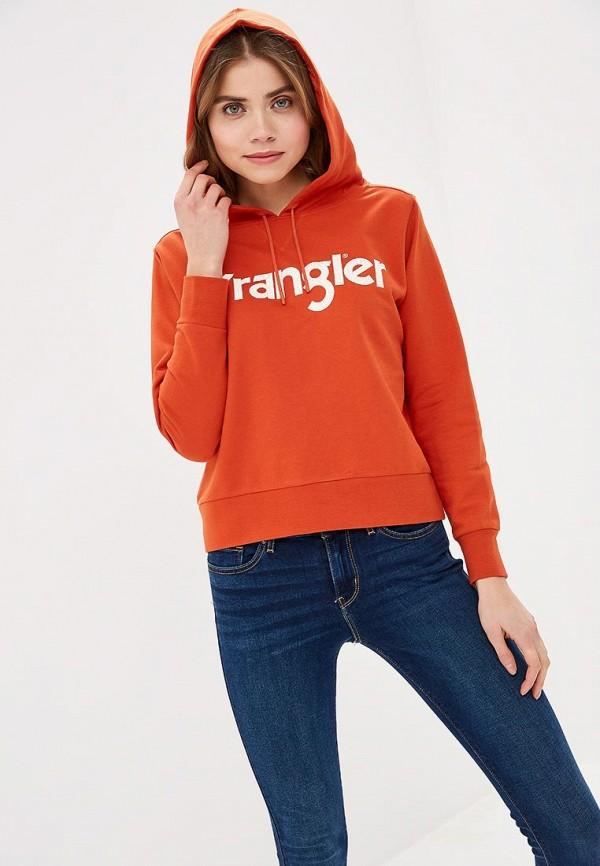 женские худи wrangler, оранжевые
