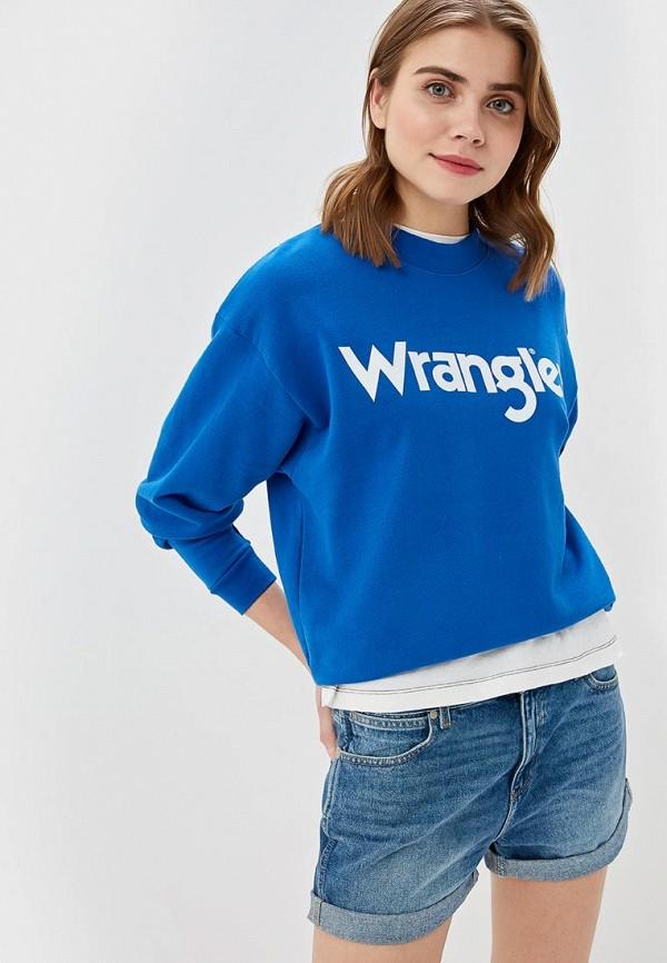 женский свитшот wrangler, синий