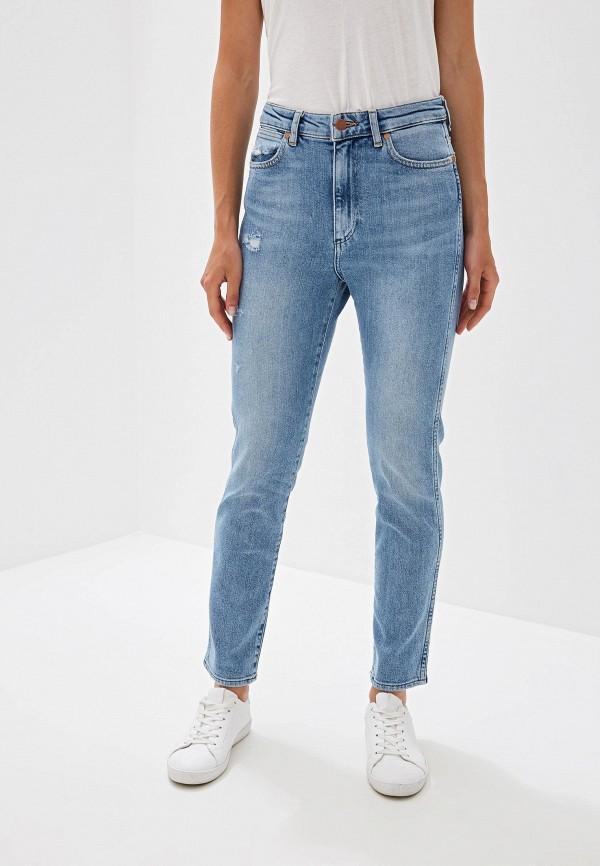 женские джинсы wrangler, голубые
