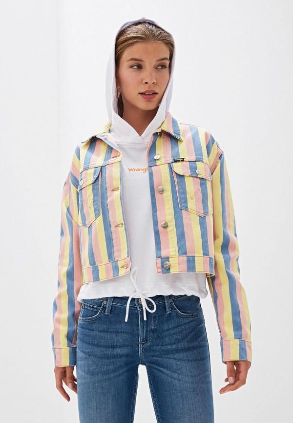женская джинсовые куртка wrangler, разноцветная