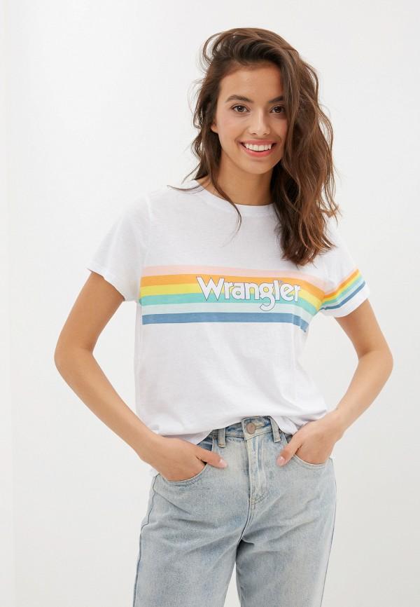 лучшая цена Футболка Wrangler Wrangler WR224EWFQDL3