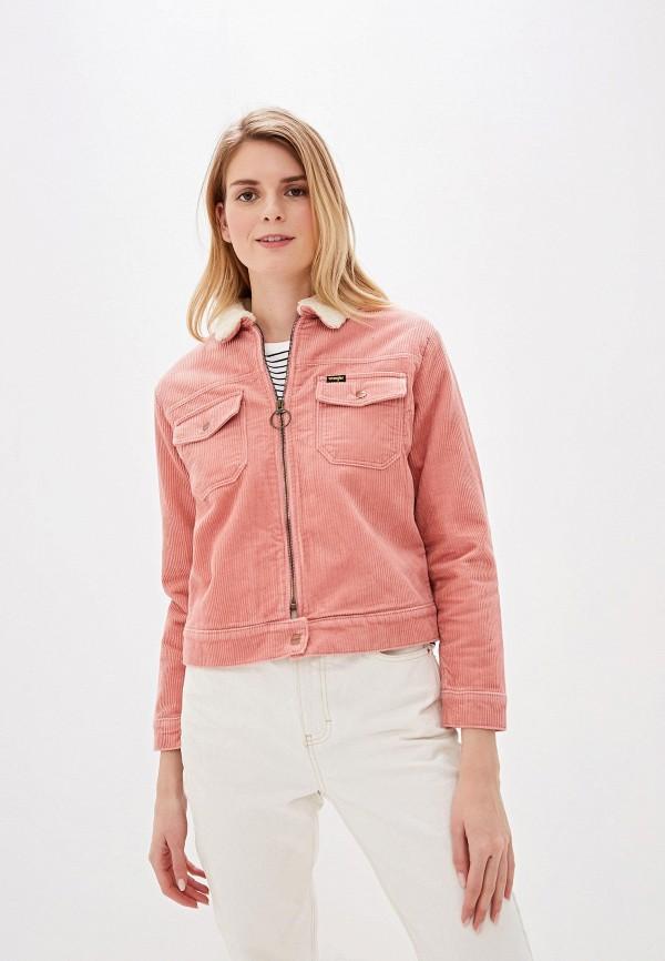 женская утепленные куртка wrangler, розовая
