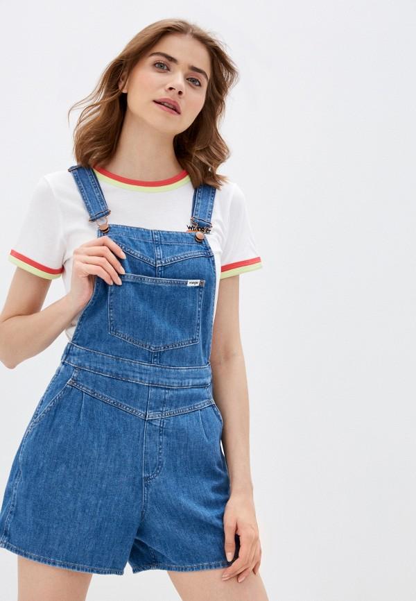 женский джинсовые комбинезон wrangler, синий