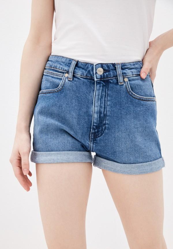 женские джинсовые шорты wrangler, синие