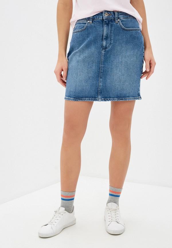 женская джинсовые юбка wrangler, синяя
