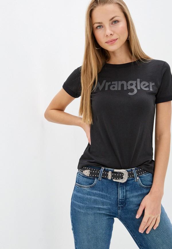 женская футболка wrangler, черная