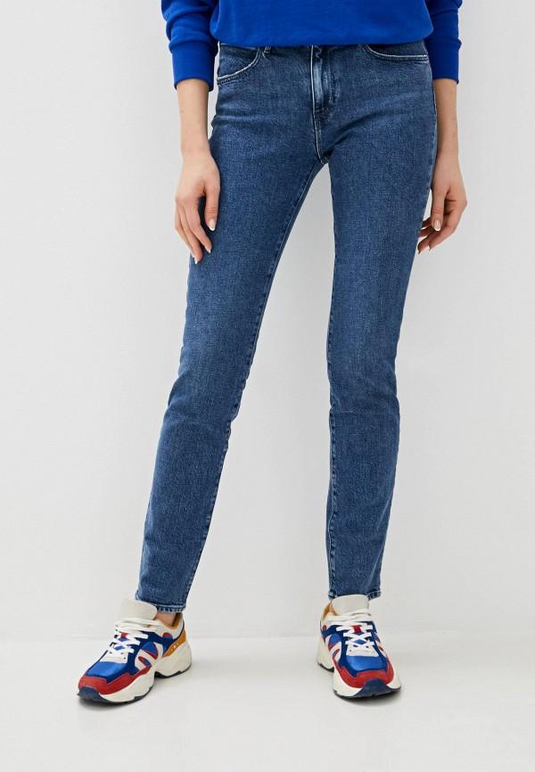 женские джинсы скинни wrangler, синие