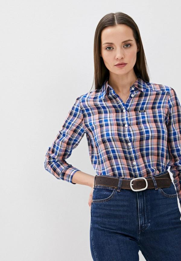 женская рубашка с длинным рукавом wrangler, разноцветная