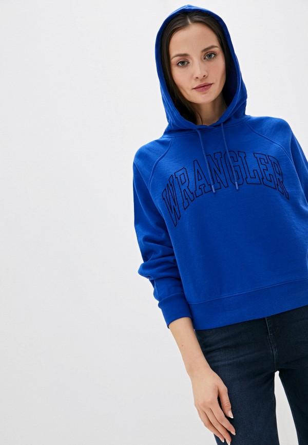 женские худи wrangler, синие