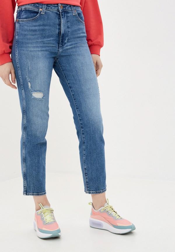 женские прямые джинсы wrangler, синие