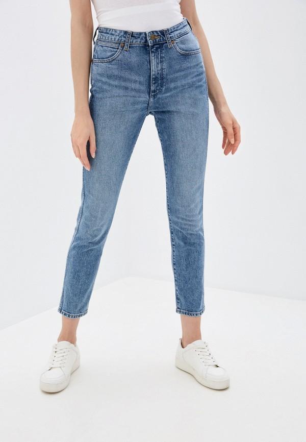 женские джинсы скинни wrangler, голубые