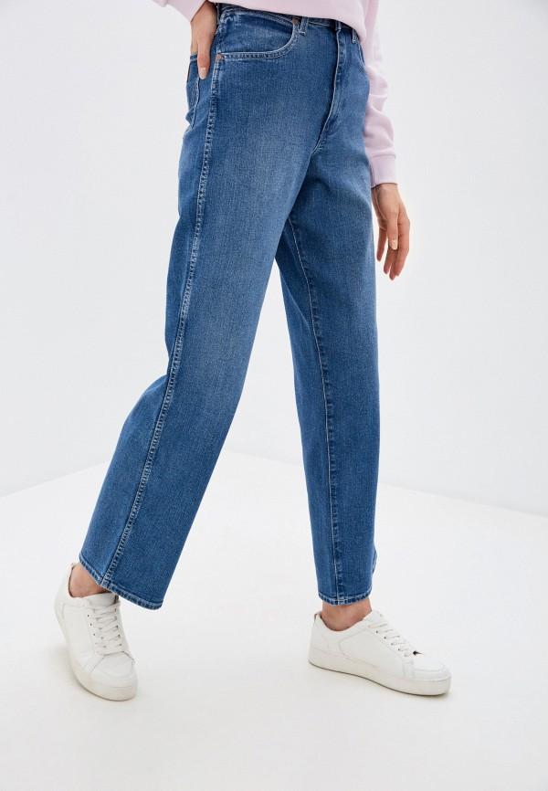 женские джинсы клеш wrangler, синие