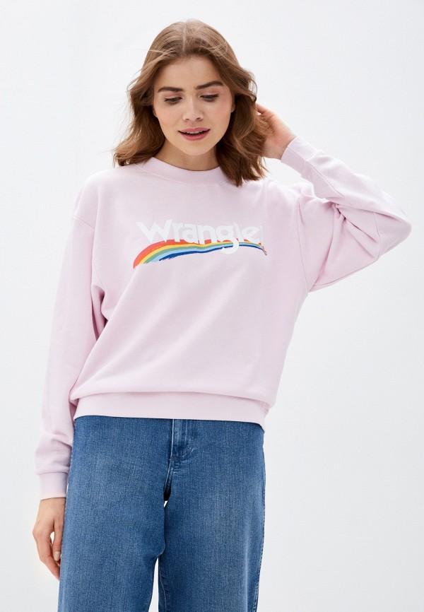 женский свитшот wrangler, розовый