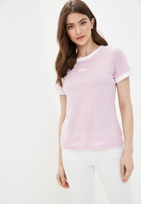 женская футболка wrangler, розовая