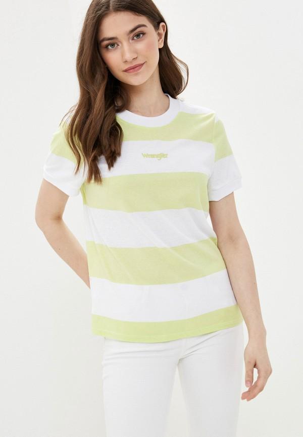 женская футболка wrangler, желтая