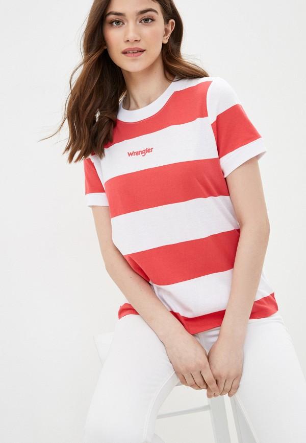 женская футболка wrangler, разноцветная