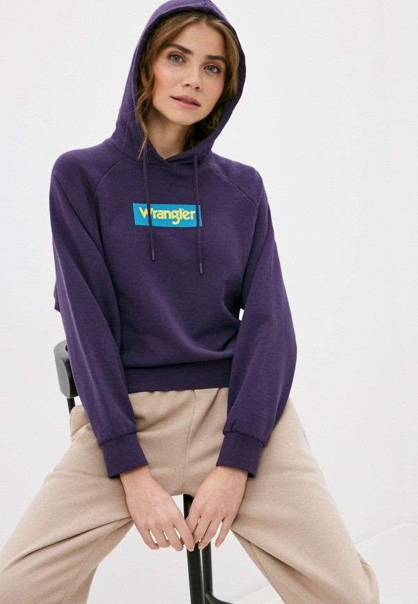 женские худи wrangler, фиолетовые