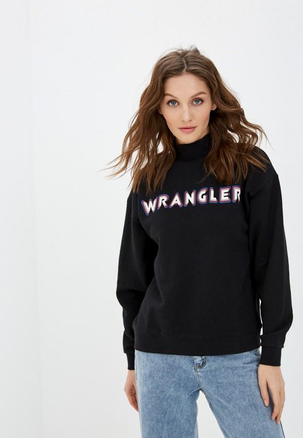 женский свитшот wrangler, черный