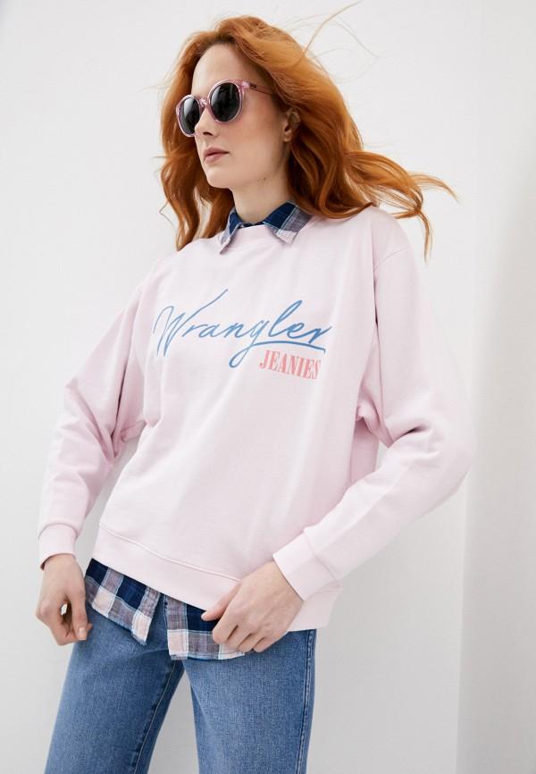 Свитшот Wrangler Wrangler W6N0HAXBJ розовый фото
