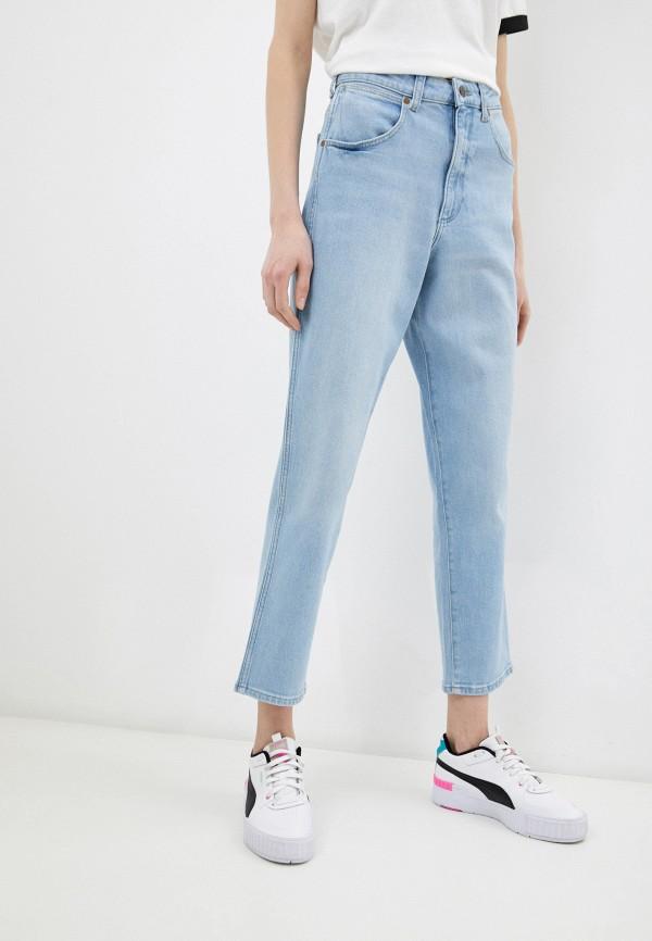 женские джинсы-мом wrangler, голубые