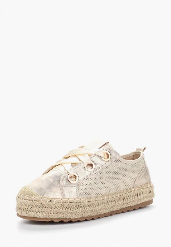 Купить Эспадрильи WS Shoes, WS002AWBCZE1, золотой, Весна-лето 2018