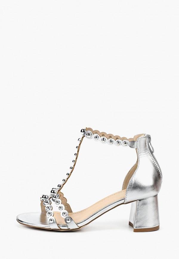 женские босоножки ws shoes, серебряные