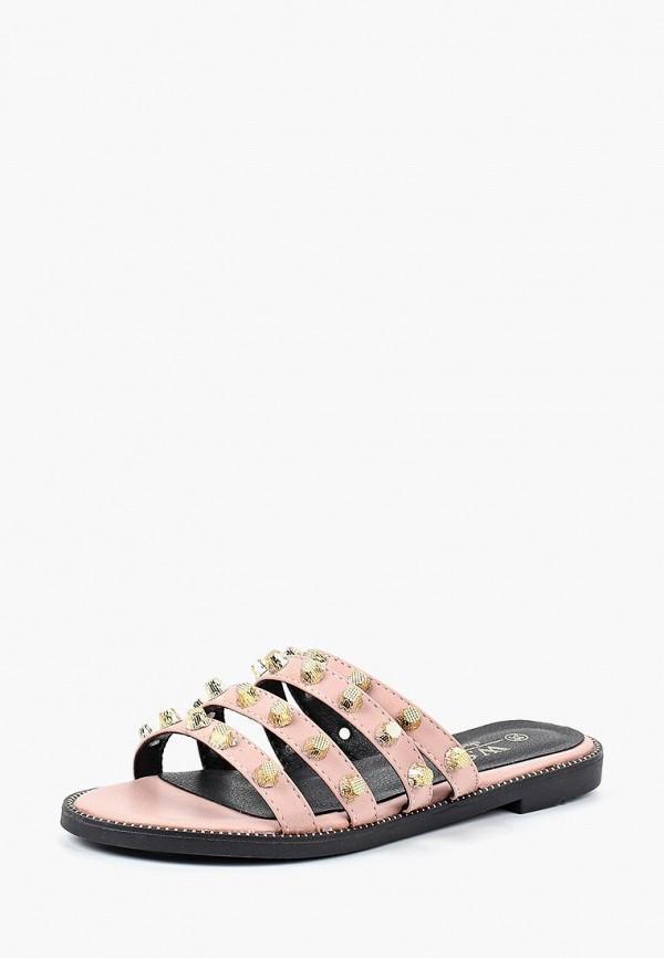 женское сабо ws shoes, розовое