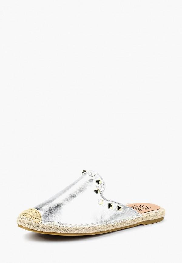 женские эспадрильи ws shoes, серебряные