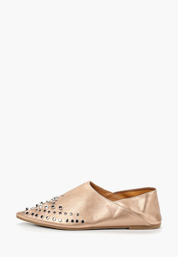 женские туфли ws shoes, золотые